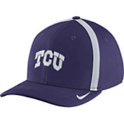 Nike Men's TCU Horned Frogs Purple Aerobill Swoosh Flex Classic99 Football Sideline Hat