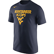 Nike Men's West Virginia Mountaineers Blue 'Mountaineer Hoops' Basketball T-Shirt