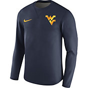 Nike Men's West Virginia Mountaineers Blue Modern Football Sideline Crew Long Sleeve Shirt