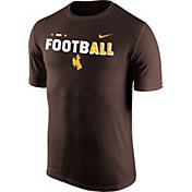 Nike Men's Wyoming Cowboys Brown FootbALL Sideline Legend T-Shirt