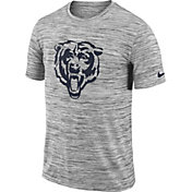 Nike Men's Chicago Bears Legend Velocity Travel Performance Grey T-Shirt