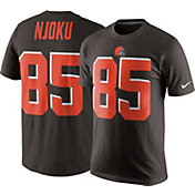 Nike Men's Cleveland Browns David Njoku #85 Pride Brown T-Shirt