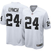 Nike Men's Away Game Jersey Oakland Raiders Marshawn Lynch #24