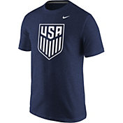 Nike Men's USA Soccer Crest Navy Tri-Blend T-Shirt