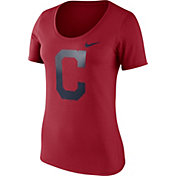 Nike Women's Cleveland Indians Red Scoop Neck T-Shirt