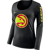 Nike Women's Atlanta Hawks Dri-FIT Black Logo Long Sleeve Shirt
