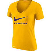 Nike Women's Los Angeles Lakers Dri-FIT Legend Gold V-Neck T-Shirt