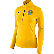 Nike Women's Denver Nuggets Dri-FIT Gold Element Half-Zip Pullover