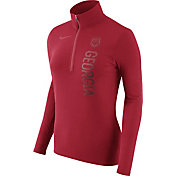Nike Women's Georgia Bulldogs Heathered Red Element Half-Zip Shirt