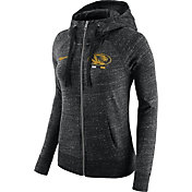 Nike Women's Missouri Tigers Heathered Black Gym Vintage Full-Zip Hoodie