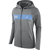 Nike Women's North Carolina Tar Heels Grey Full-Zip Hoodie