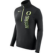 Nike Women's Oregon Ducks Heathered Black Element Half-Zip Shirt