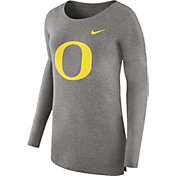 Nike Women's Oregon Ducks Grey Cozy Long Sleeve Shirt