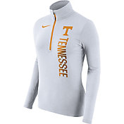 Nike Women's Tennessee Volunteers Heathered White Element Half-Zip Shirt