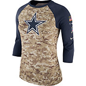 Nike Women's Dallas Cowboys Salute to Service 2017 Camouflage Raglan