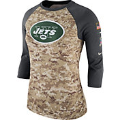 Nike Women's New York Jets Salute to Service 2017 Camouflage Raglan