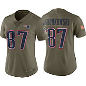 Nike Women's Home Limited Salute to Service 2017 New England Patriots Rob Gronkowski #87 Jersey