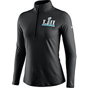 Nike Women's Super Bowl LII Element Quarter-Zip Performance Black Top