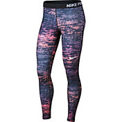 Nike Women's Pro Warm Ink Stripe Printed Tights