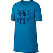Nike Youth FC Barcelona Blue Crest T-Shirt