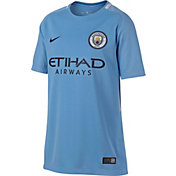 Nike Youth Manchester City 17/18 Breathe Replica Home Stadium Jersey