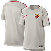 Nike Youth AS Roma Breathe Squad Grey Training Shirt