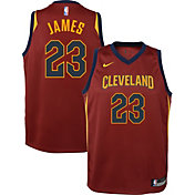 Nike Youth Cleveland Cavaliers LeBron James #23 Burgundy Dri-FIT Swingman Jersey