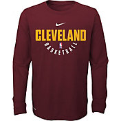 Nike Youth Cleveland Cavaliers Dri-FIT Burgundy Practice Long Sleeve Shirt