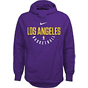 Nike Youth Los Angeles Lakers Therma-FIT Purple Practice Performance Hoodie