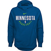 Nike Youth Minnesota Timberwolves Therma-FIT Blue Practice Performance Hoodie