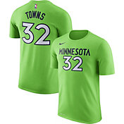 Nike Youth Minnesota Timberwolves Karl-Anthony Towns #32 Dri-FIT Green T-Shirt