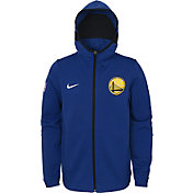 Nike Youth Golden State Warriors On-Court Royal Dri-FIT Showtime Full-Zip Hoodie