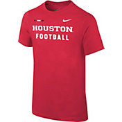 Nike Youth Houston Cougars Red Football Sideline Facility T-Shirt