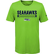 Nike Youth Seattle Seahawks Legend Staff Performance Green T-Shirt