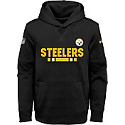Nike Youth Pittsburgh Steelers Therma-FIT Black Performance Pullover Hoodie