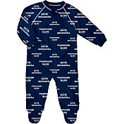 NFL Team Apparel Infant Seattle Seahawks Raglan Zip-Up Coverall