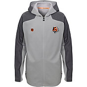 NFL Team Apparel Youth Cincinnati Bengals Delta Full-Zip Jacket