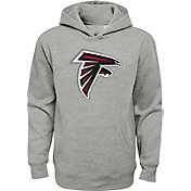 NFL Team Apparel Youth Atlanta Falcons Logo Grey Hoodie