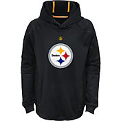 NFL Team Apparel Youth Pittsburgh Steelers Mach Pullover Hoodie