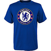 adidas Youth Chelsea FC Logo Blue T-Shirt