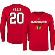 NHL Youth Chicago Blackhawks Brandon Saad #20 Red Long Sleeve Shirt