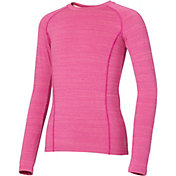 Reebok Girls' Cold Weather Compression Spacedye Crewneck Long Sleeve Shirt