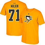Reebok Men's Pittsburgh Penguins Evgeni Malkin #71 Gold Player T-Shirt