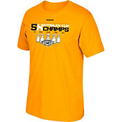 Reebok Men's 2017 NHL Stanley Cup Champions Pittsburgh Penguins Five-Time Champs Gold T-Shirt