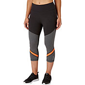 Reebok Women's Stretch Cotton High Waisted Novelty Capris