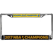 Rico 2017 NBA Finals Champions Golden State Warriors Chrome License Plate Frame