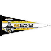 Rico Pittsburgh Penguins 5X Stanley Cup Champions Pennant