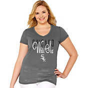 Soft As A Grape Women's Chicago White Sox Tri-Blend Grey V-Neck T-Shirt - Plus Size