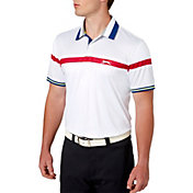 Slazenger Men's Frequency Stripe Cuff Golf Polo