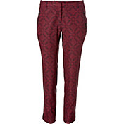 Slazenger Women's Structure Collection Printed Ankle Golf Pants